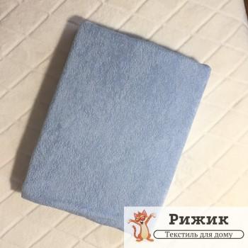 Простынь на резинке Ярослав махровая Голубая 12 (90*200+20см)