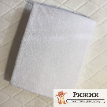 Простынь на резинке Ярослав махровая Белая 11 (90*200+20см)