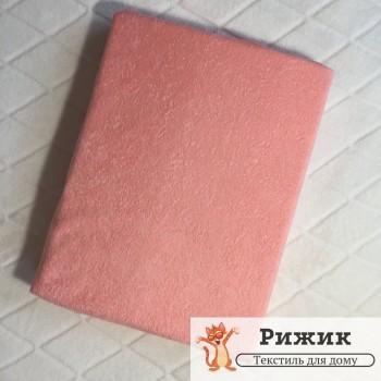 Простынь на резинке Ярослав махровая Персиковая 06 (90*200+20см)