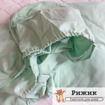 Постельное белье Ярослав на резинке бязь Салатовое 06 (Полуторный)