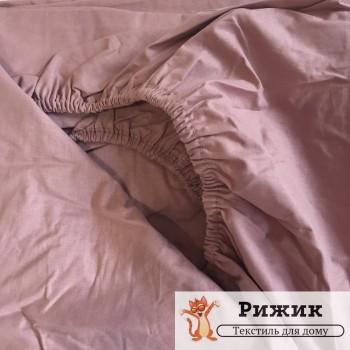 Постельное белье Ярослав на резинке бязь Лилово - бежевое 01 (Полуторный)