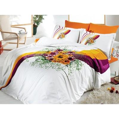 Постельное белье First Choice сатин Buket oranj