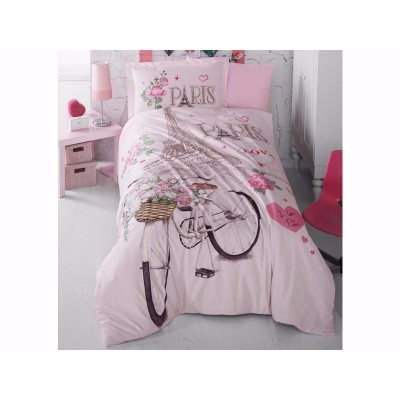 Комплект постельного белья подростковый ранфорс Paris Love